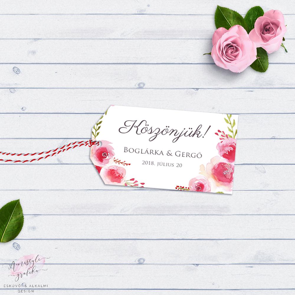 Rózsakoszorús Ajándékkísérő Kártya