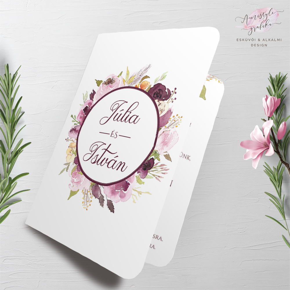 Burgundy-Blossoms_Esküvői-Meghívó-hajtott_A6_1