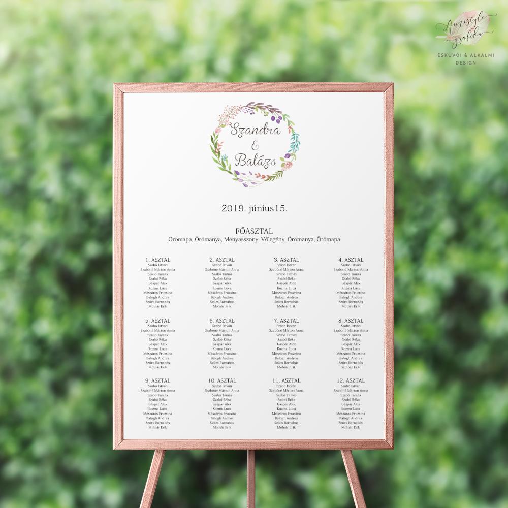 Virágkoszorús Esküvői Ültetési Rend