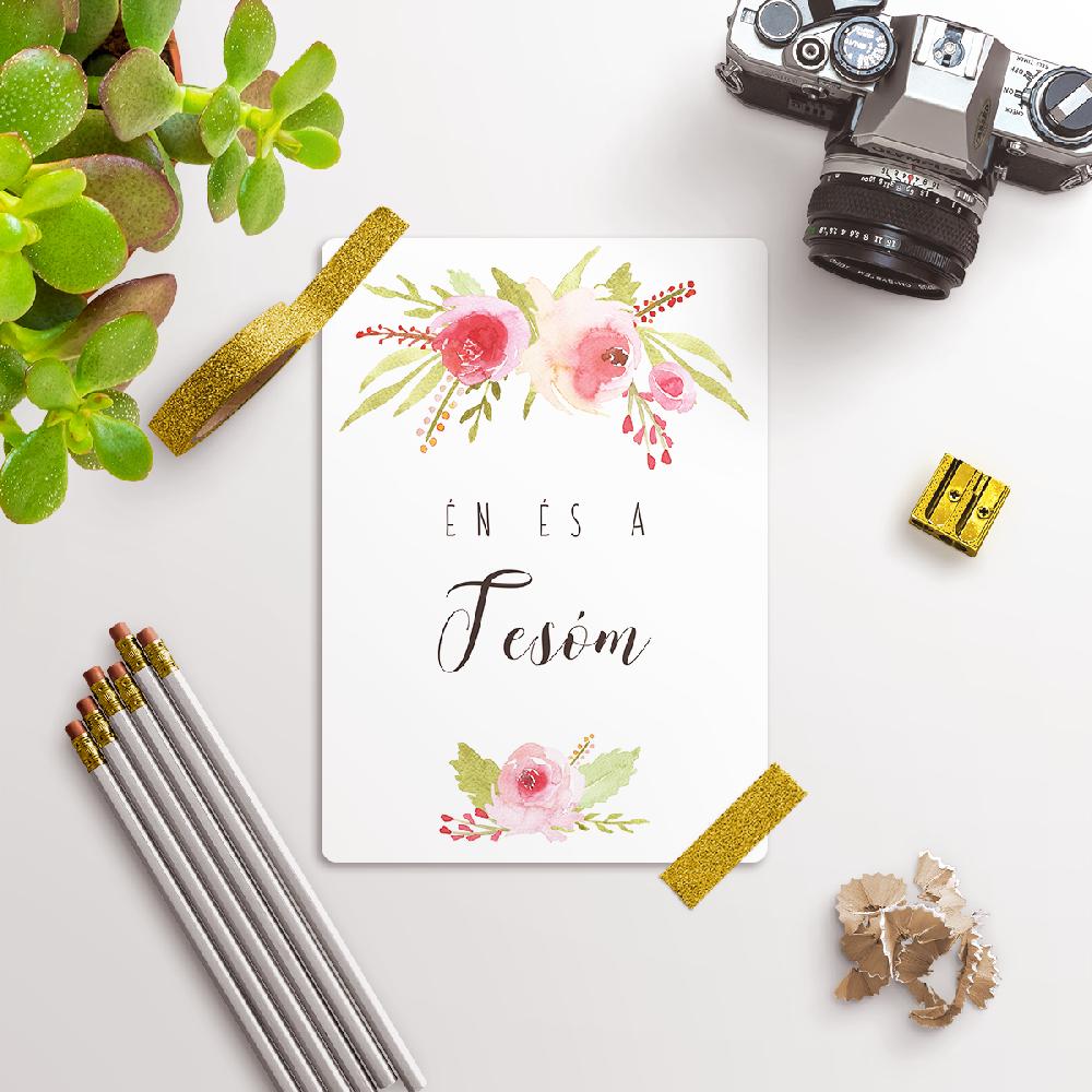 Rózsás Kisbaba Mérföldkő Kártyák