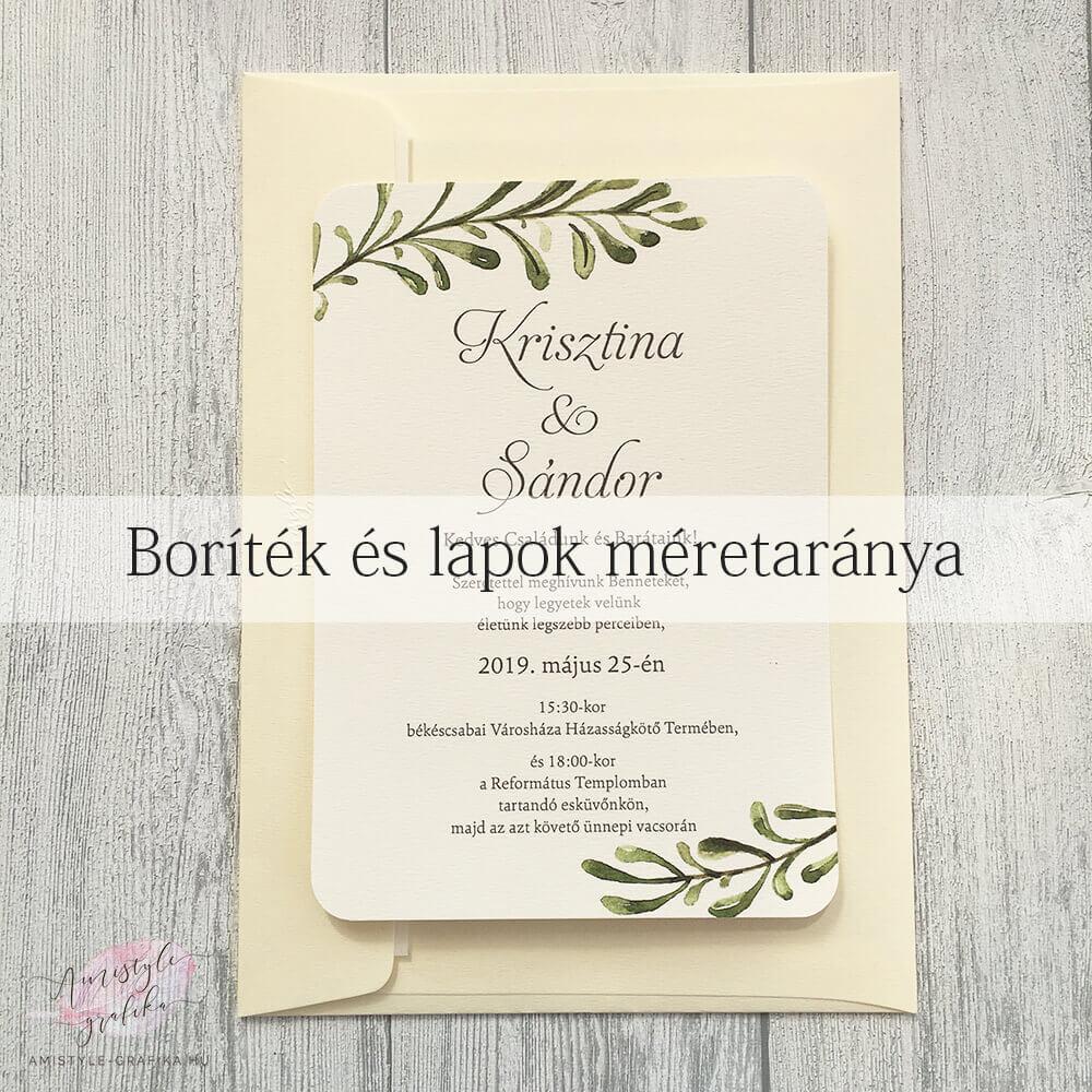 Boríték esküvői meghívó