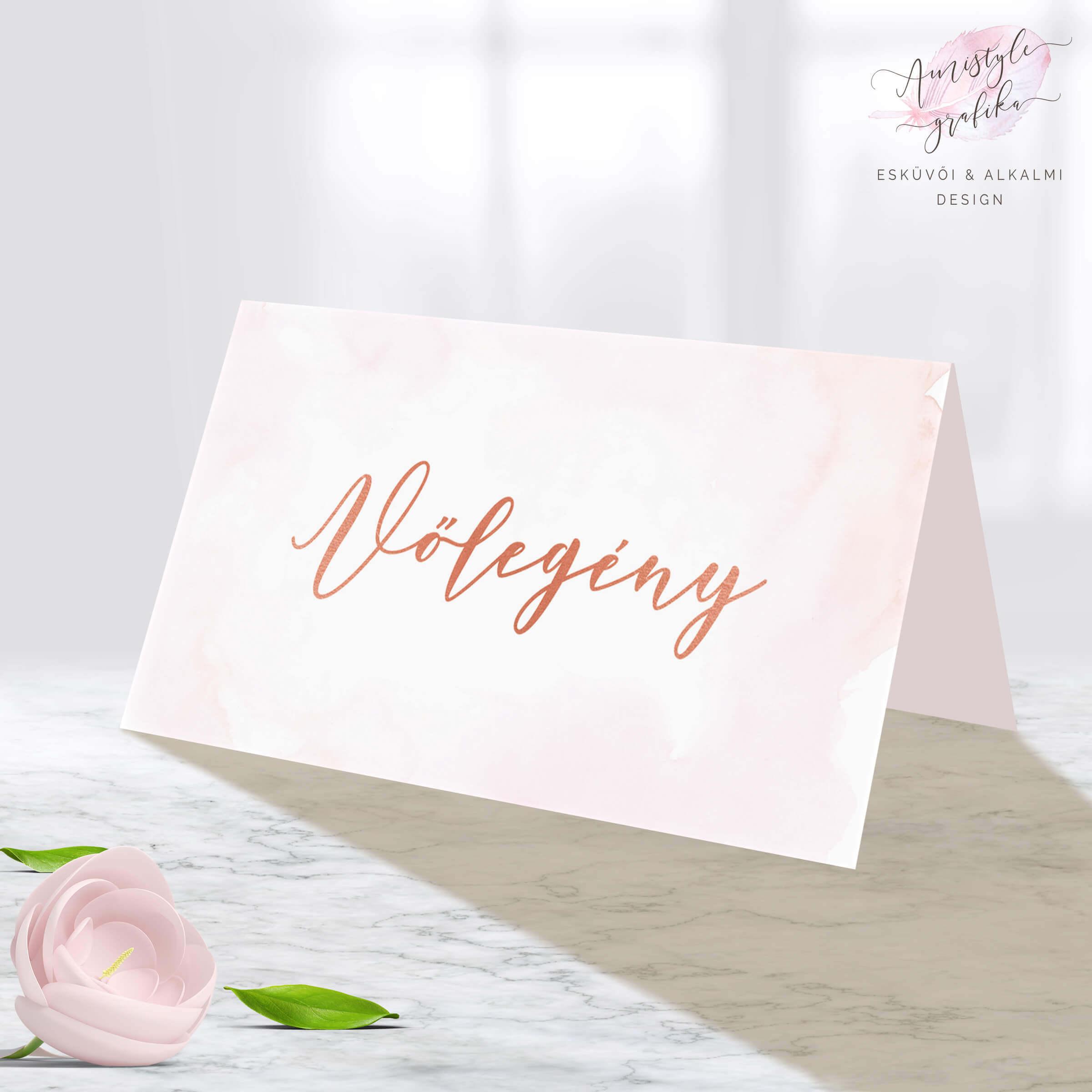 RoseGold Esküvői Ültetőkártya