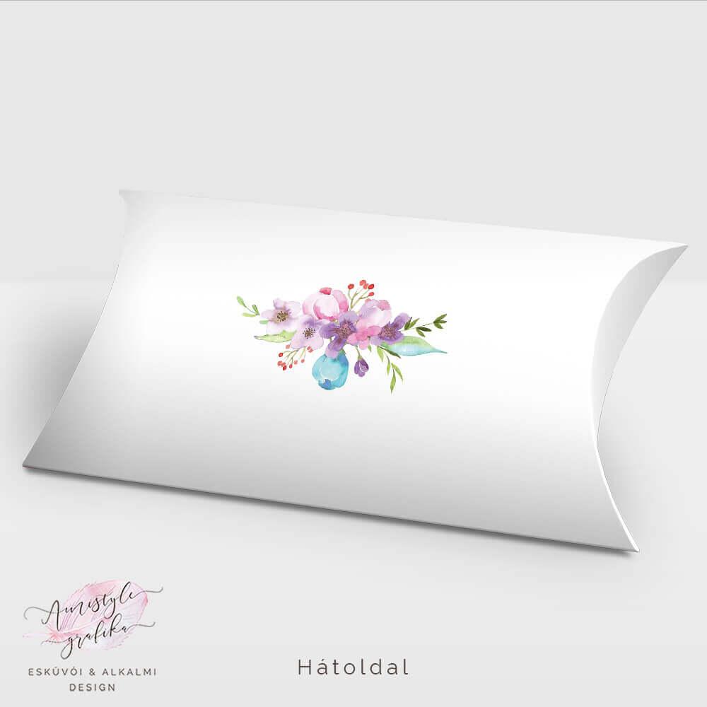 Virágos Nászajándék Pénzátadó Pillow Box