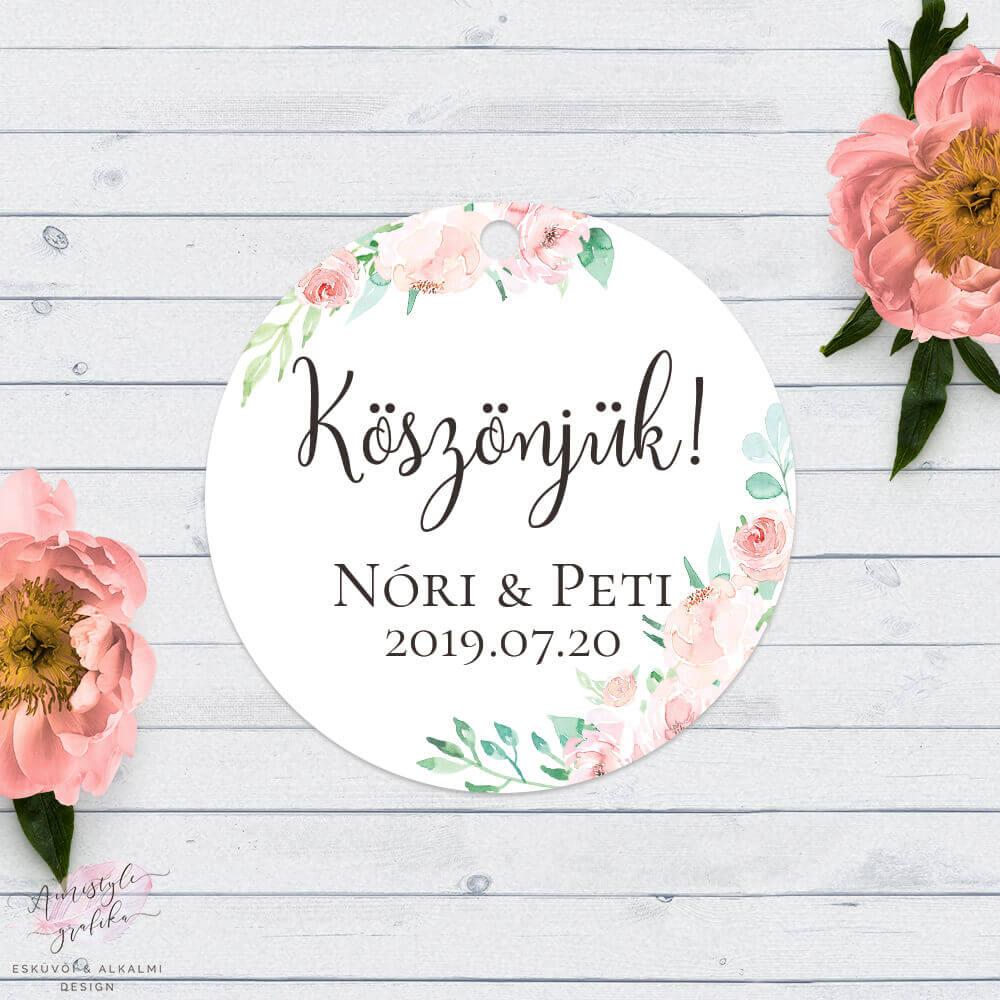 cd6dad9921 Korall Menta Akvarell Kör Köszönőkártya - Esküvői Meghívó, Alkalmi ...
