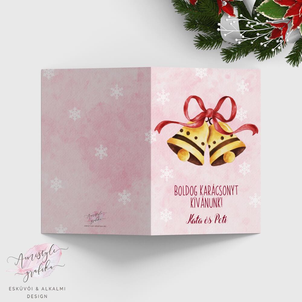 Karácsonyi Csengős Képeslap