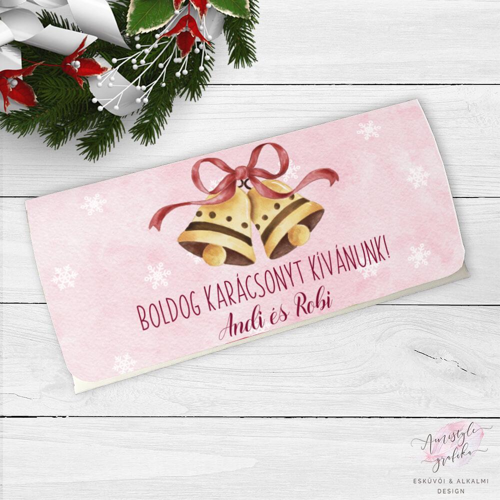 Karácsonyi Csengettyűs Ajándék Pénzátadó Boríték