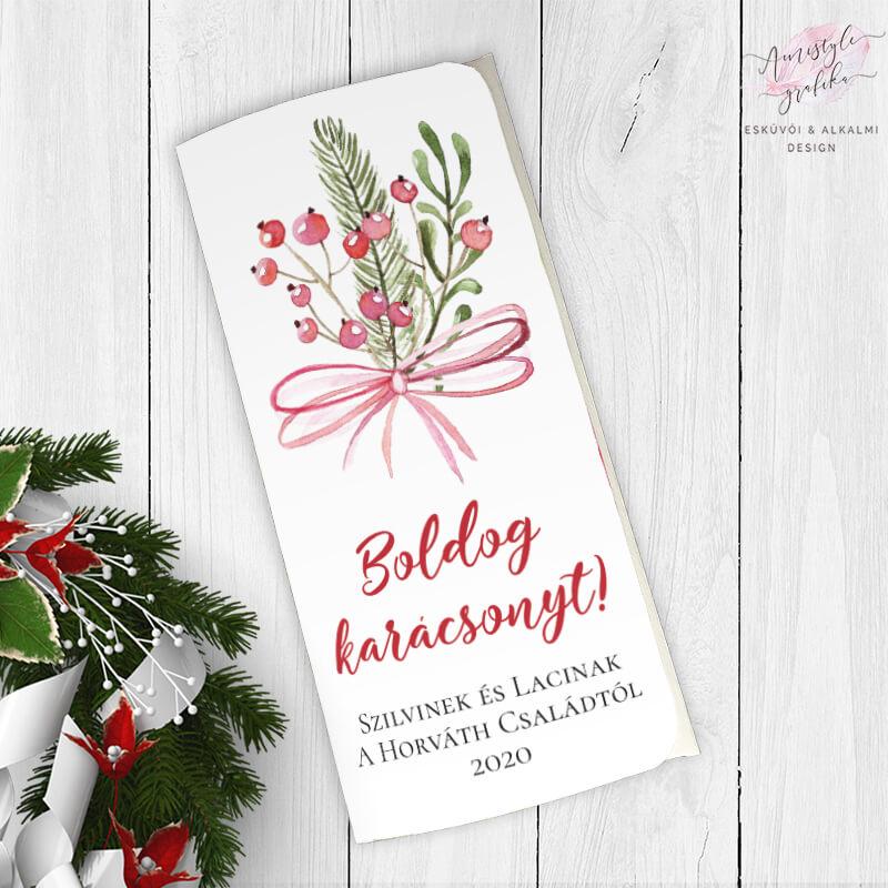 Karácsonyi Masnis Ajándék Pénzátadó Boríték - Fehér