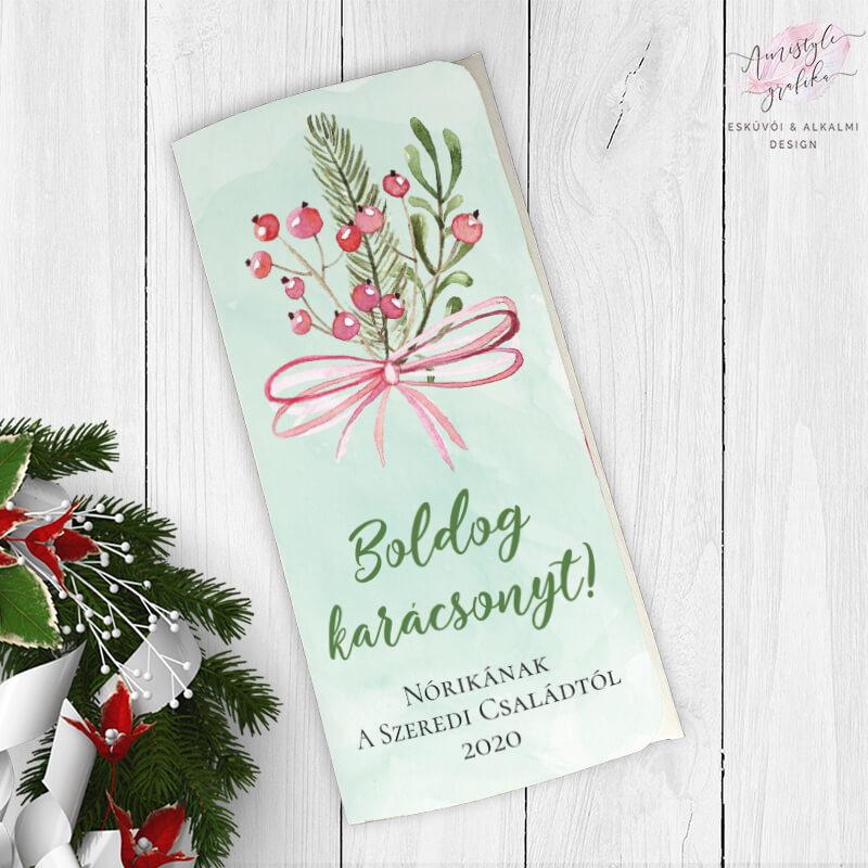 Karácsonyi Masnis Ajándék Pénzátadó Boríték - Púder