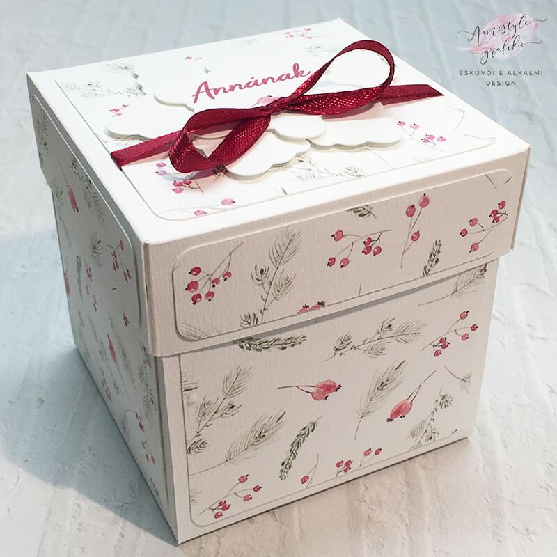 Karácsonyi Mintás Meglepetés ajándékdoboz