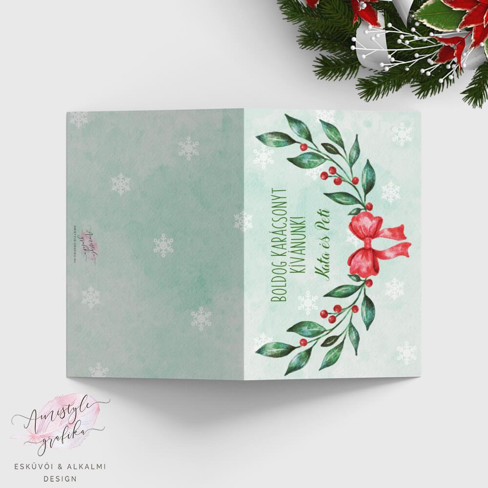 Karácsonyi Ágas Nyitható Képeslap