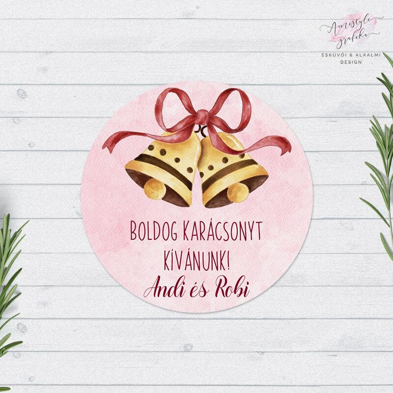 Karácsonyi Csengettyűs Ajándékkísérő Matrica