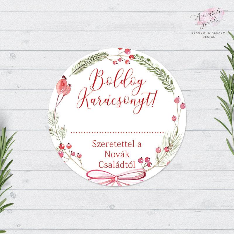 Karácsonyi Mintás Ajándékkísérő Matrica
