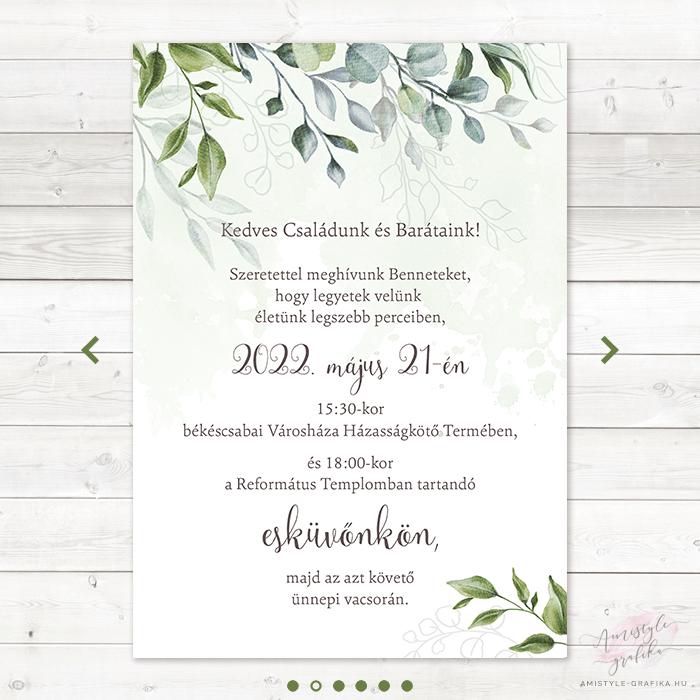 Boho Greenery Online Esküvői Meghívó - Mini Esküvői Honlap