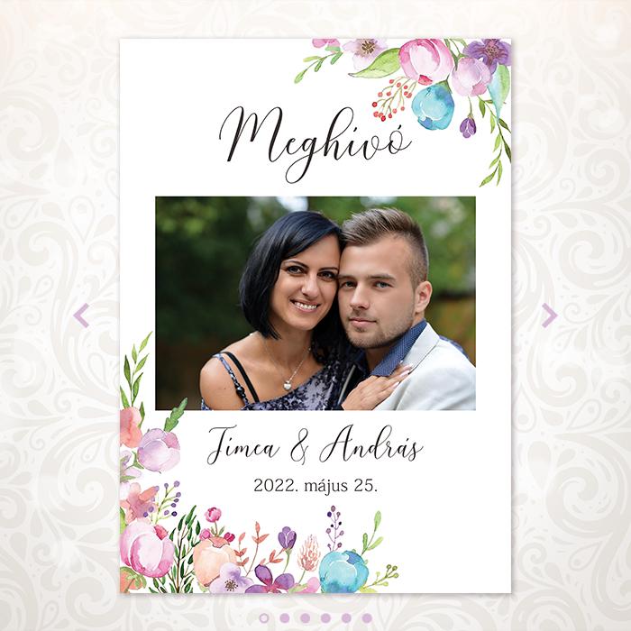 Floral Online Esküvői Meghívó - Mini Esküvői Honlap