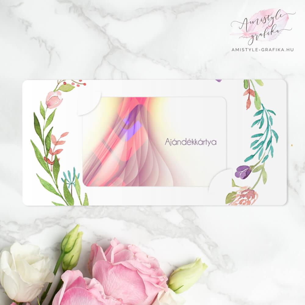 Virágkoszorús Tanárköszöntő Ajándékkártya Átadó Boríték