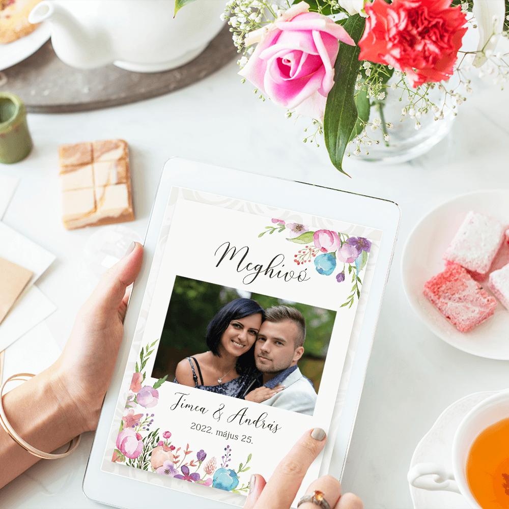 Online Esküvői Meghívó, Digitális meghívó - Mini Esküvői Honlap